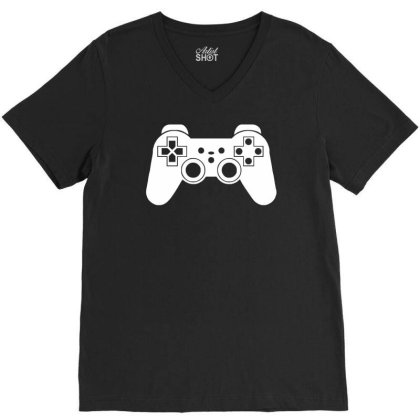 Game Controller, Ideal Gift Or Birthday Present. V-neck Tee Designed By Wanzinx
