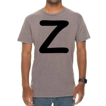 Letter Z Capital Alphabet Vintage T-shirt Designed By Joe Art