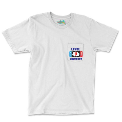 Level 9 Unlocked Pocket T-shirt Designed By Joe Art
