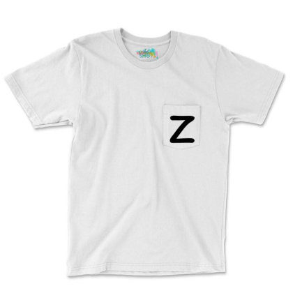 Letter Z Capital Alphabet Pocket T-shirt Designed By Joe Art