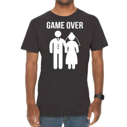 Game Over Funny Vintage T-shirt Designed By Wanzinx
