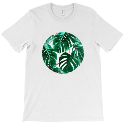 Tropical Palm Leaves Design T-shirt Designed By Stevenz
