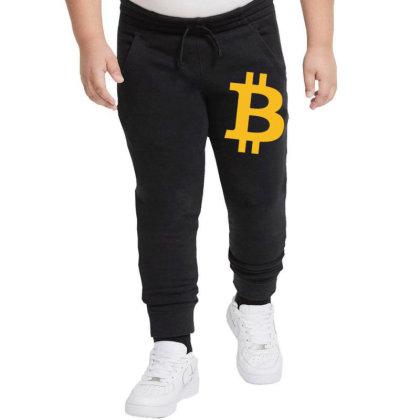 Bitcoin Logo Youth Jogger Designed By Mdk Art