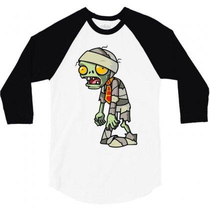 Plants Vs Zombies 3/4 Sleeve Shirt Designed By Mir Art