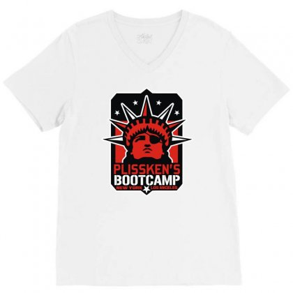 Plissken's Bootcamp V-neck Tee Designed By Mir Art