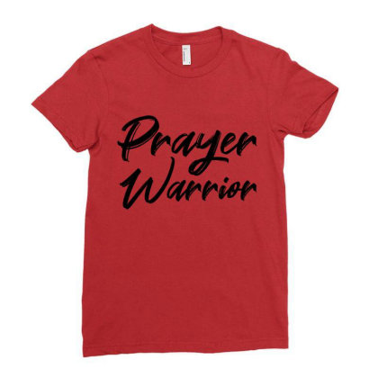 Prayer Warrior Blk Ladies Fitted T-shirt Designed By Teeculturedesigns