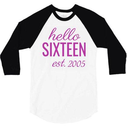 16th Birthday 3/4 Sleeve Shirt Designed By Paulscott Art