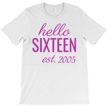 16th Birthday T-shirt Designed By Paulscott Art