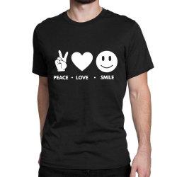 Peace Love Smile Classic T-shirt Designed By Blackacturus