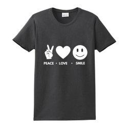 Peace Love Smile Ladies Classic T-shirt Designed By Blackacturus