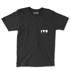 Peace Love Smile Pocket T-shirt Designed By Blackacturus