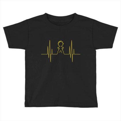 Electro Saiyan Heartbeat Toddler T-shirt Designed By Koopshawneen