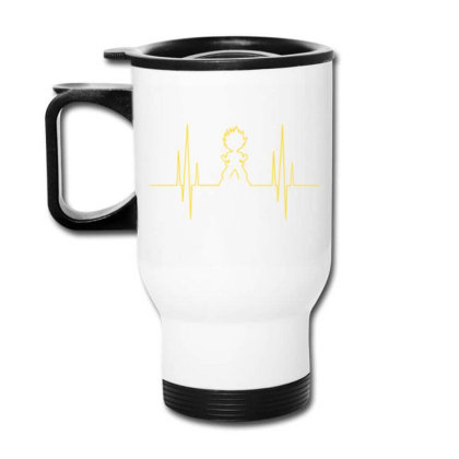 Electro Saiyan Heartbeat Travel Mug Designed By Koopshawneen