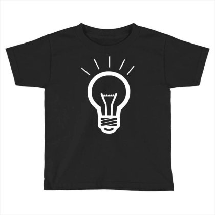 Light Bulb Funny Toddler T-shirt Designed By Wanzinx