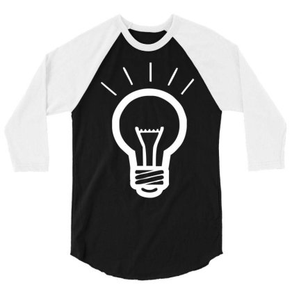 Light Bulb Funny 3/4 Sleeve Shirt Designed By Wanzinx