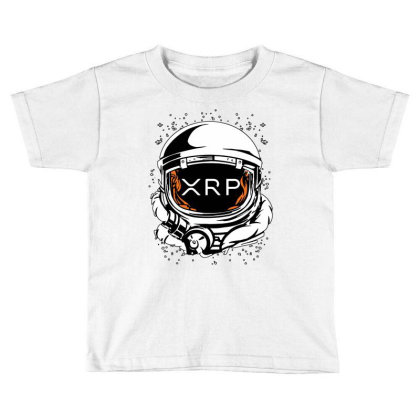 Coin Crypto Currency To The Moon Toddler T-shirt Designed By Joe Art