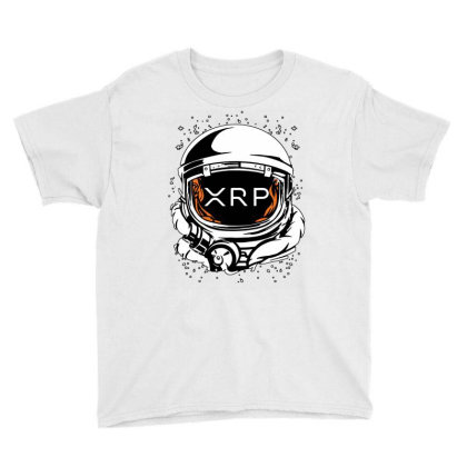 Coin Crypto Currency To The Moon Youth Tee Designed By Joe Art