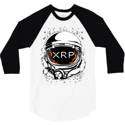 Coin Crypto Currency To The Moon 3/4 Sleeve Shirt Designed By Joe Art