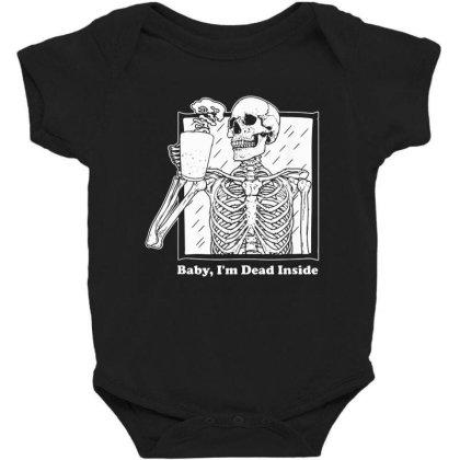 Baby I'm Dead Inside Skeleton Coffee Baby Bodysuit