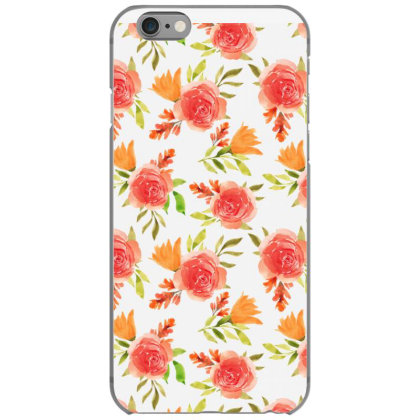 Beautiful Red Rose Watercolor Pattern Iphone 6/6s Case Designed By Visudylic Creations