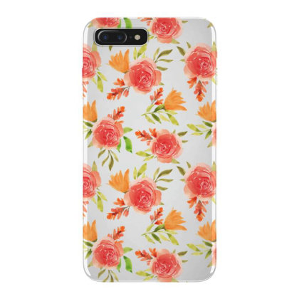 Beautiful Red Rose Watercolor Pattern Iphone 7 Plus Case Designed By Visudylic Creations