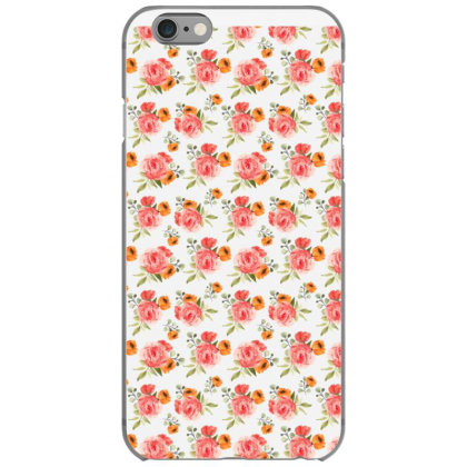 Elegant Rose Watercolor Pattern Iphone 6/6s Case Designed By Visudylic Creations