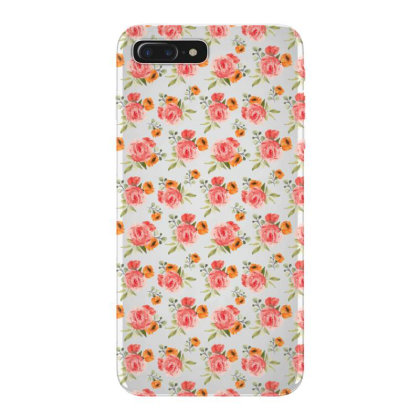 Elegant Rose Watercolor Pattern Iphone 7 Plus Case Designed By Visudylic Creations