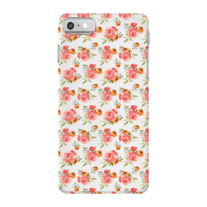 Elegant Rose Watercolor Pattern Iphone 7 Case Designed By Visudylic Creations