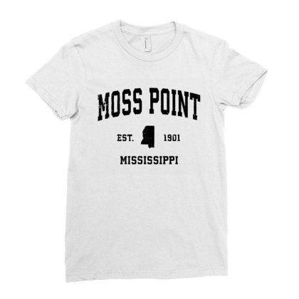 Moss Point Mississippi Ladies Fitted T-shirt Designed By Kevin Design