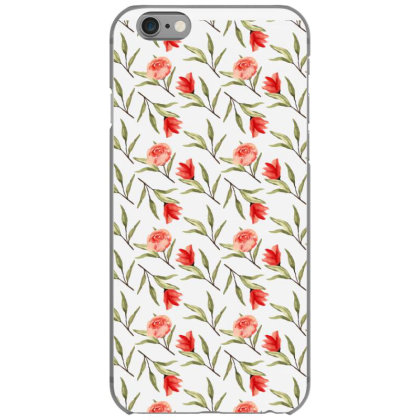Rose With Branches Watercolor Pattern Iphone 6/6s Case Designed By Visudylic Creations