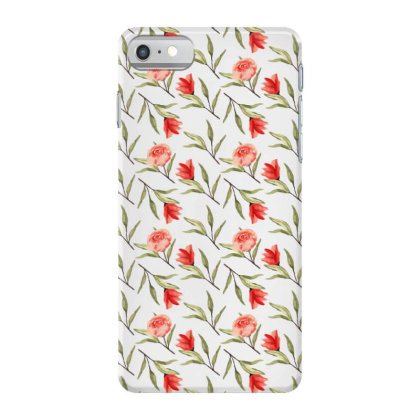 Rose With Branches Watercolor Pattern Iphone 7 Case Designed By Visudylic Creations
