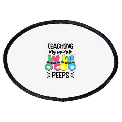 Teaching My Favorite Peeps Oval Patch Designed By Joe Art