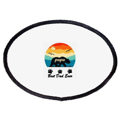 Uomo The Best Dad Ever Oval Patch Designed By Joe Art