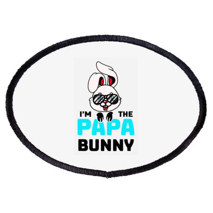 Mens I'm The Papa Bunny Oval Patch Designed By Brave Tees