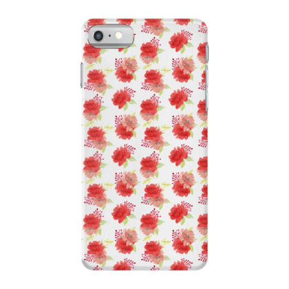 Red Rose Floral Arrangement Pattern Iphone 7 Case Designed By Visudylic Creations