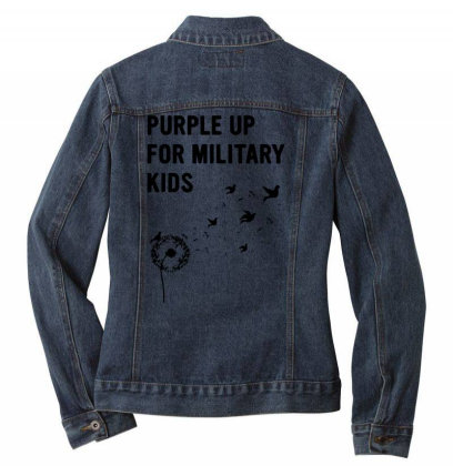 Month Of The Military Child Ladies Denim Jacket Designed By Kevin Design