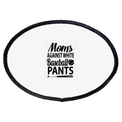 Moms Against White Baseball Oval Patch Designed By Kevin Design