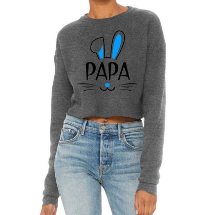 Mens Papa Bunny Gift Rabbit Cropped Sweater Designed By Brave Tees