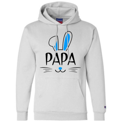 Mens Papa Bunny Gift Rabbit Champion Hoodie Designed By Brave Tees