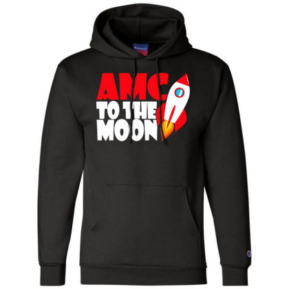 Amc To The Moon Champion Hoodie Designed By Brave Tees
