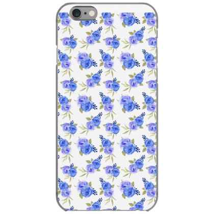 Blue Purple Rose Watercolor Pattern Iphone 6/6s Case Designed By Visudylic Creations