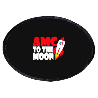 Amc To The Moon Oval Patch Designed By Brave Tees
