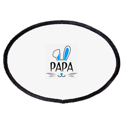 Mens Papa Bunny Gift Rabbit Oval Patch Designed By Brave Tees