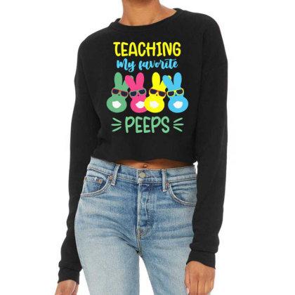 Teaching My Favorite Peeps Cropped Sweater Designed By Joe Art
