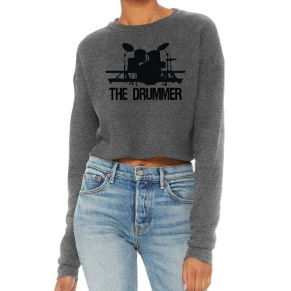 The Drummer Drumset Cropped Sweater Designed By Joe Art