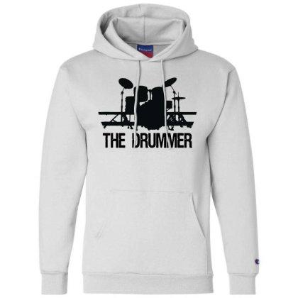 The Drummer Drumset Champion Hoodie Designed By Joe Art