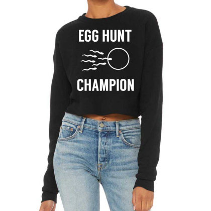 Egg Hunt Cropped Sweater Designed By Kevin Design