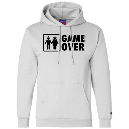 Marriage Game Over Wedding Champion Hoodie Designed By Brave Tees