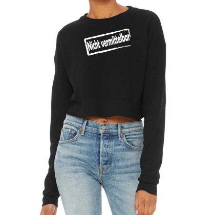 Nicht Vermittelbar  Funny Cropped Sweater Designed By Wanzinx