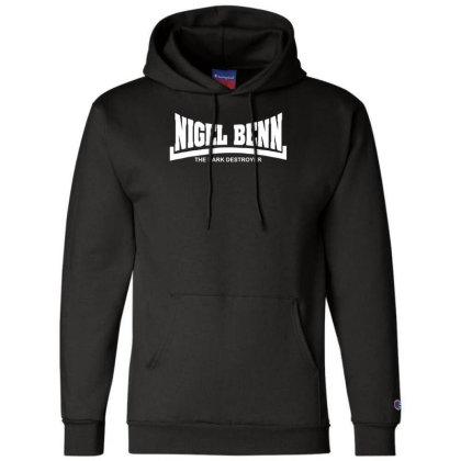 Nigel Benn The Dark Destroyer Champion Hoodie Designed By Wanzinx